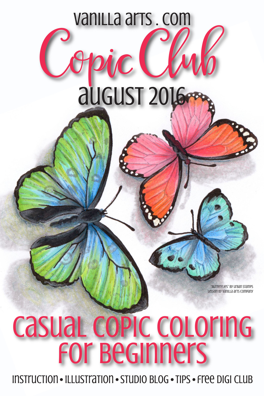 Beginner level casual Copic coloring lessons | VanillaArts.com