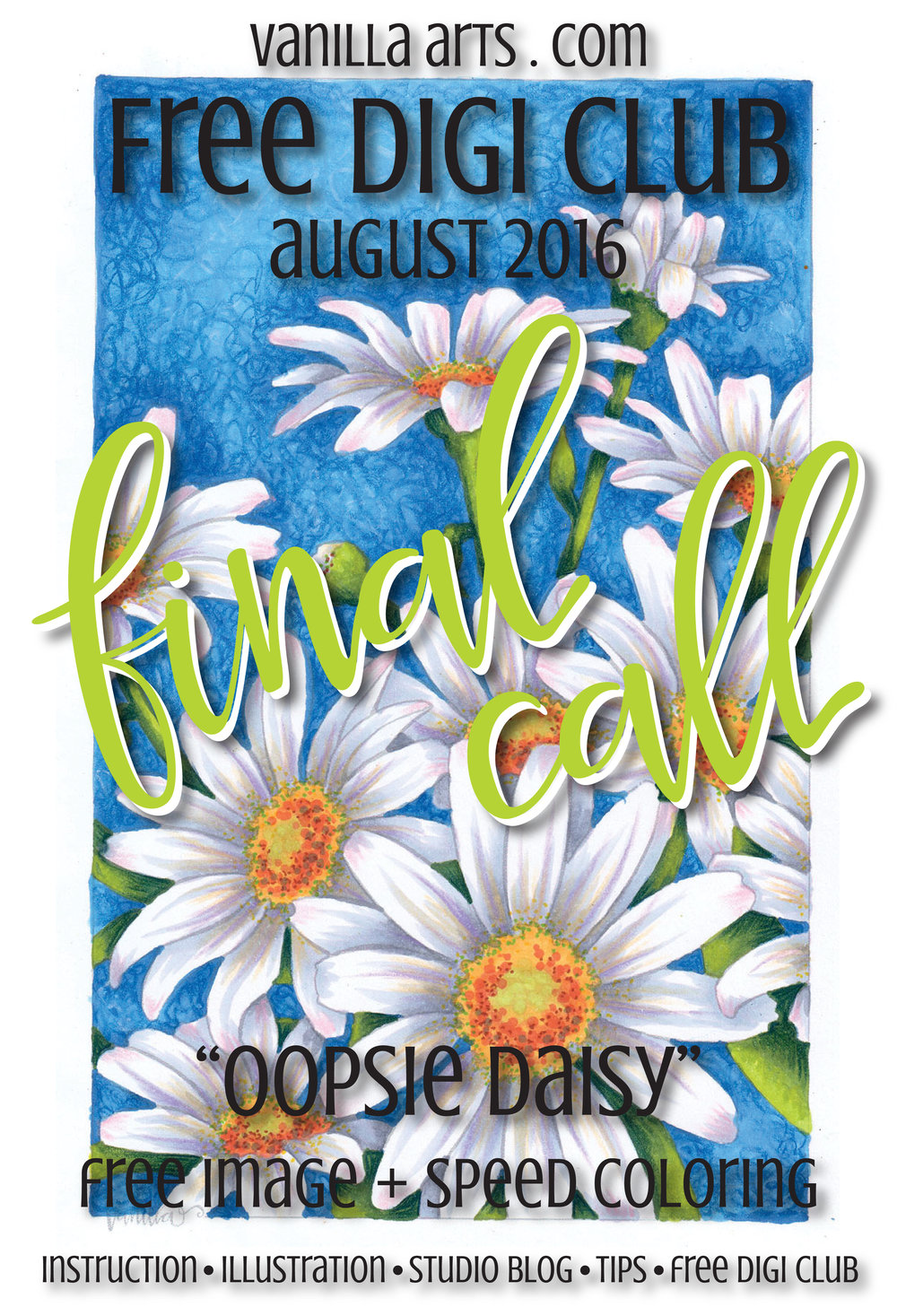 "Final Call for August's Free Digital Stamp ""Oopsie Daisy"" 