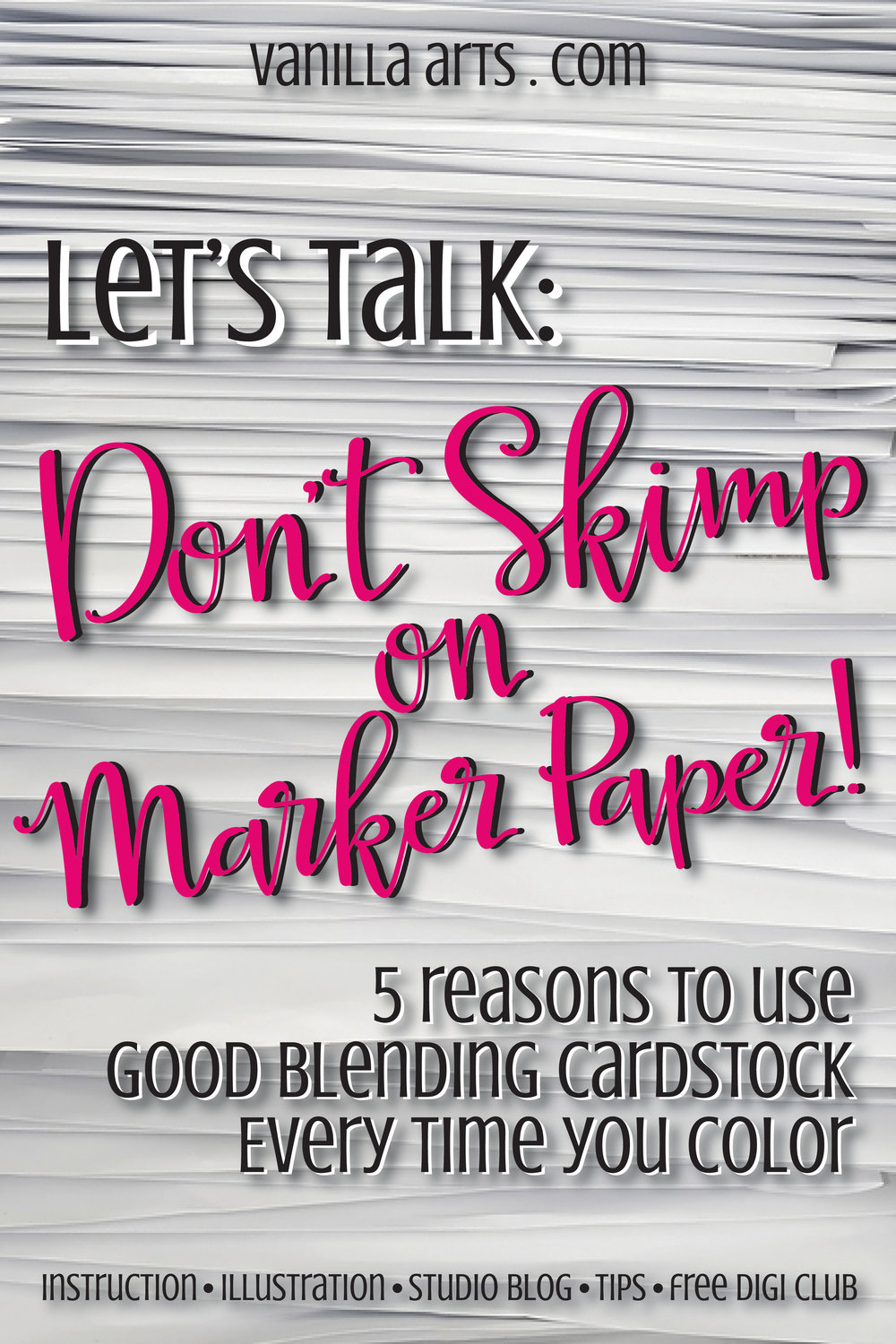 Cream colored cardstock paper studio - Why You Should Use The Best Quality Marker Paper You Can Afford For All Your Projects