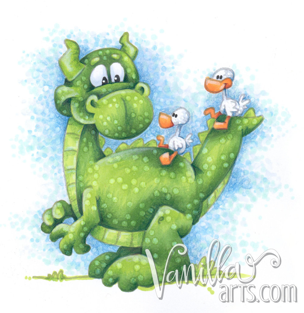 """Ducky Fun"" a lesson in mastering Copic colorless blender solution 