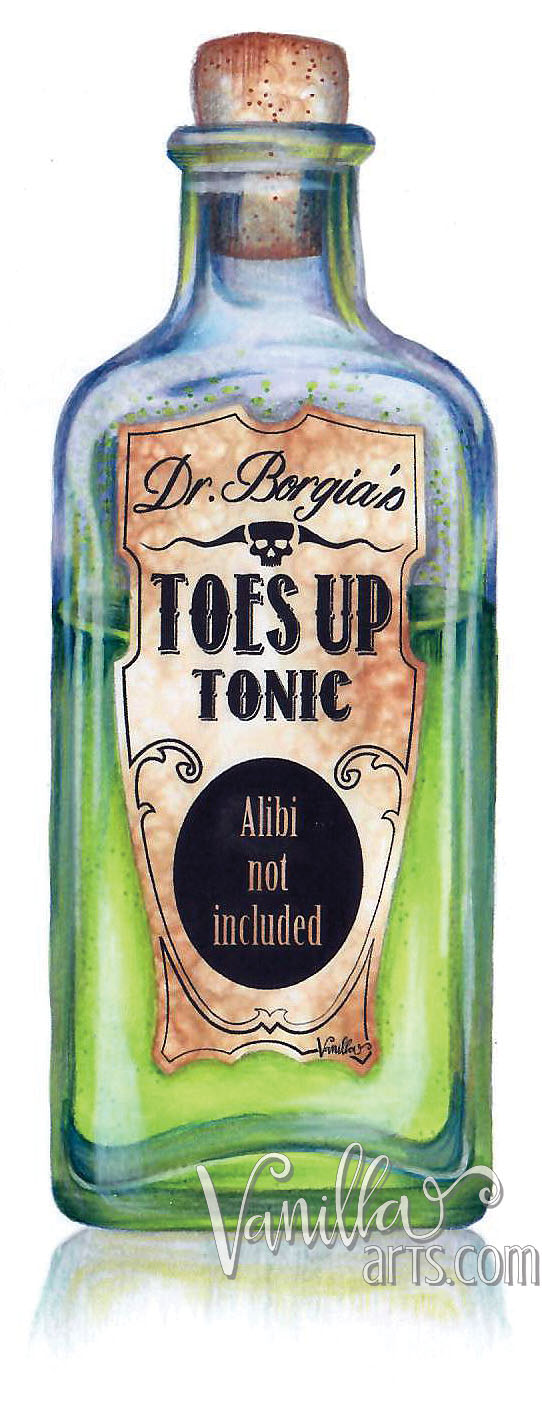 """Tonic"" an advanced Copic class. Learning to color glass and transparent objects. 