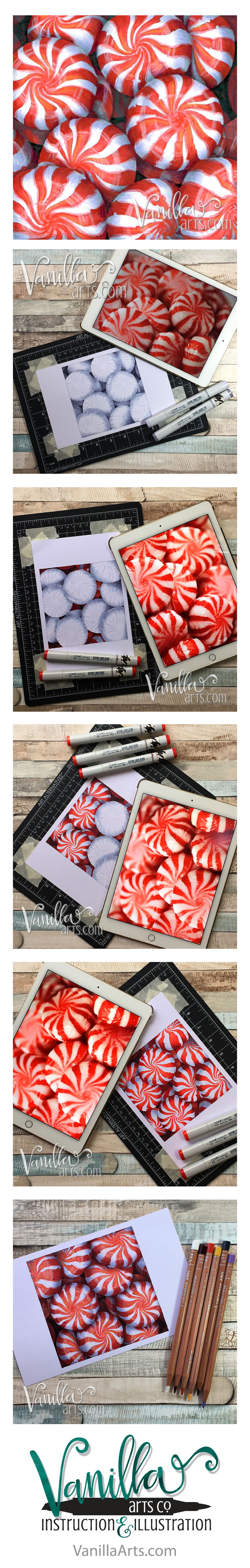 """Cool Peppermint"" a Free Digi Club digital stamp for subscribers. Take the online class too! 