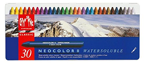 10 Gift Ideas for a Mixed Media Lover- Neocolor II Crayons are adult fun.  | VanillaArts.com