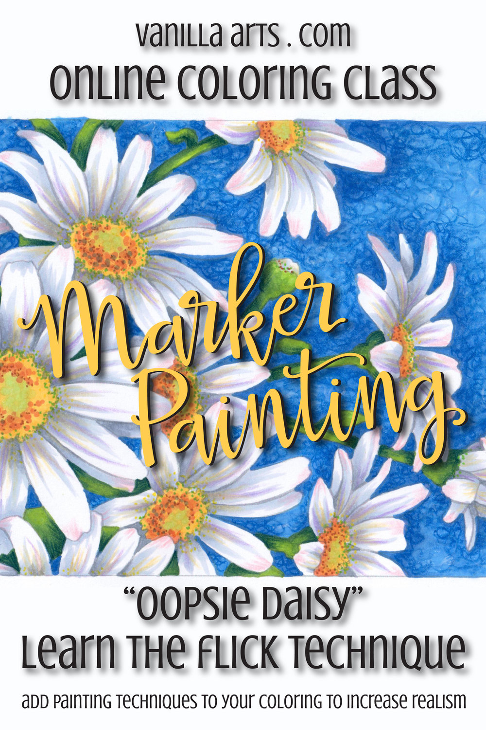 Marker Painting Basics Oopsie Daisy Online Class Learn To Use