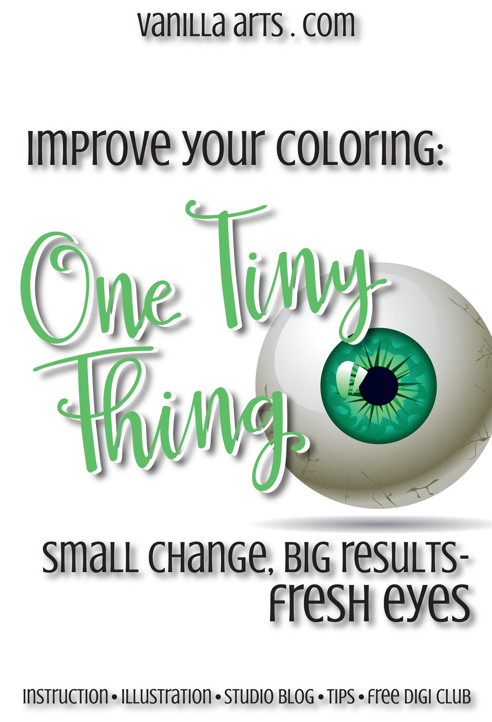 One Tiny Thing can improve your Copic coloring TODAY! Fresh eyes. | VanillaArts.com