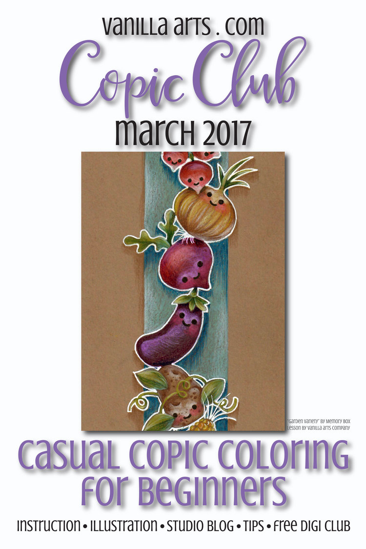 Copic Club: Casual Coloring Class- Learn to color on kraft paper ...