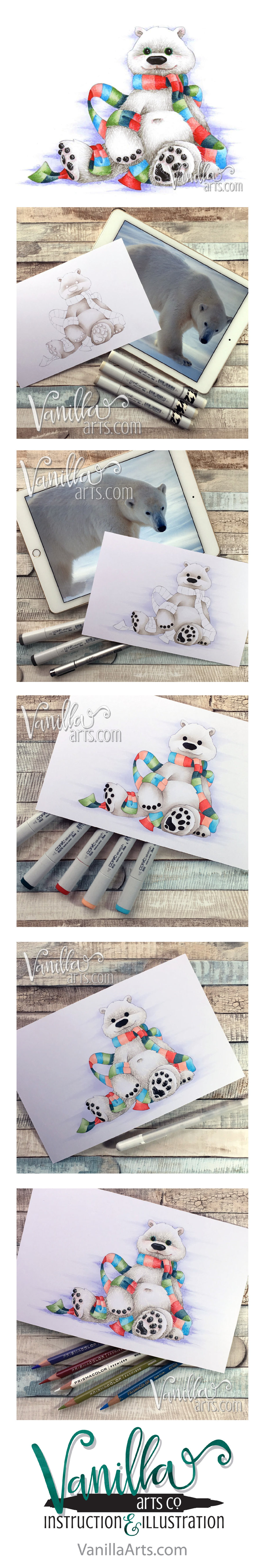 "Join the Free Digi Club to receive challenging stamp images designed for Copic, colored pencil, or watercolor. ""Hudson the Bear"" Jan 2017 