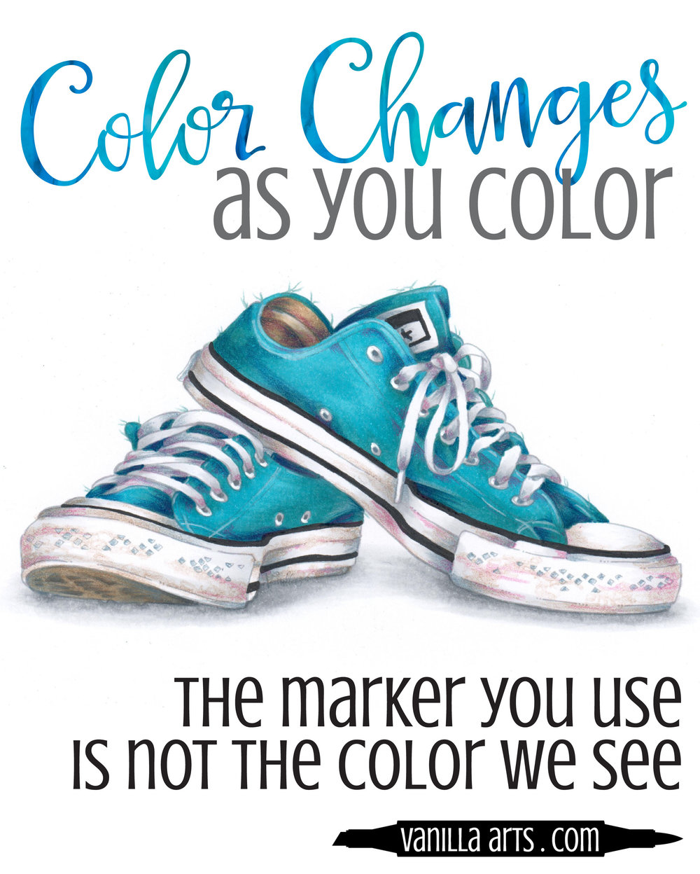 The marker you use is not the color we see! Learn to balance color. | VanillaArts.com