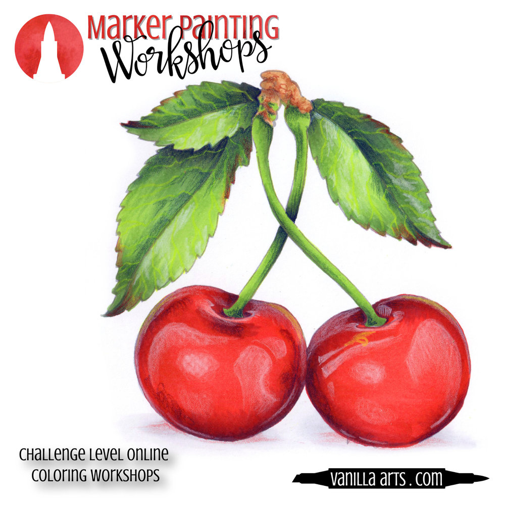 Marker Painting Workshops teach you to color like an artist. Add depth and realism to your Copic Marker projects. | MarkerPainting.com