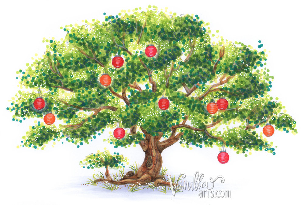 """Get your FREE copy of the """"One Tree"""" digital stamp in June 2017. Join the Free Digi Club for a new stamp every month! 