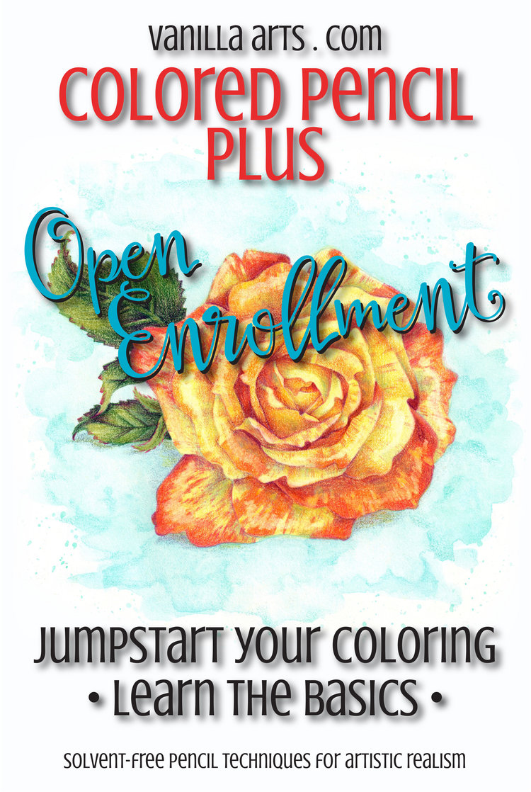 Colored Pencil Plus: 12 Weeks from Beginner to Wow! — Vanilla Arts Co.