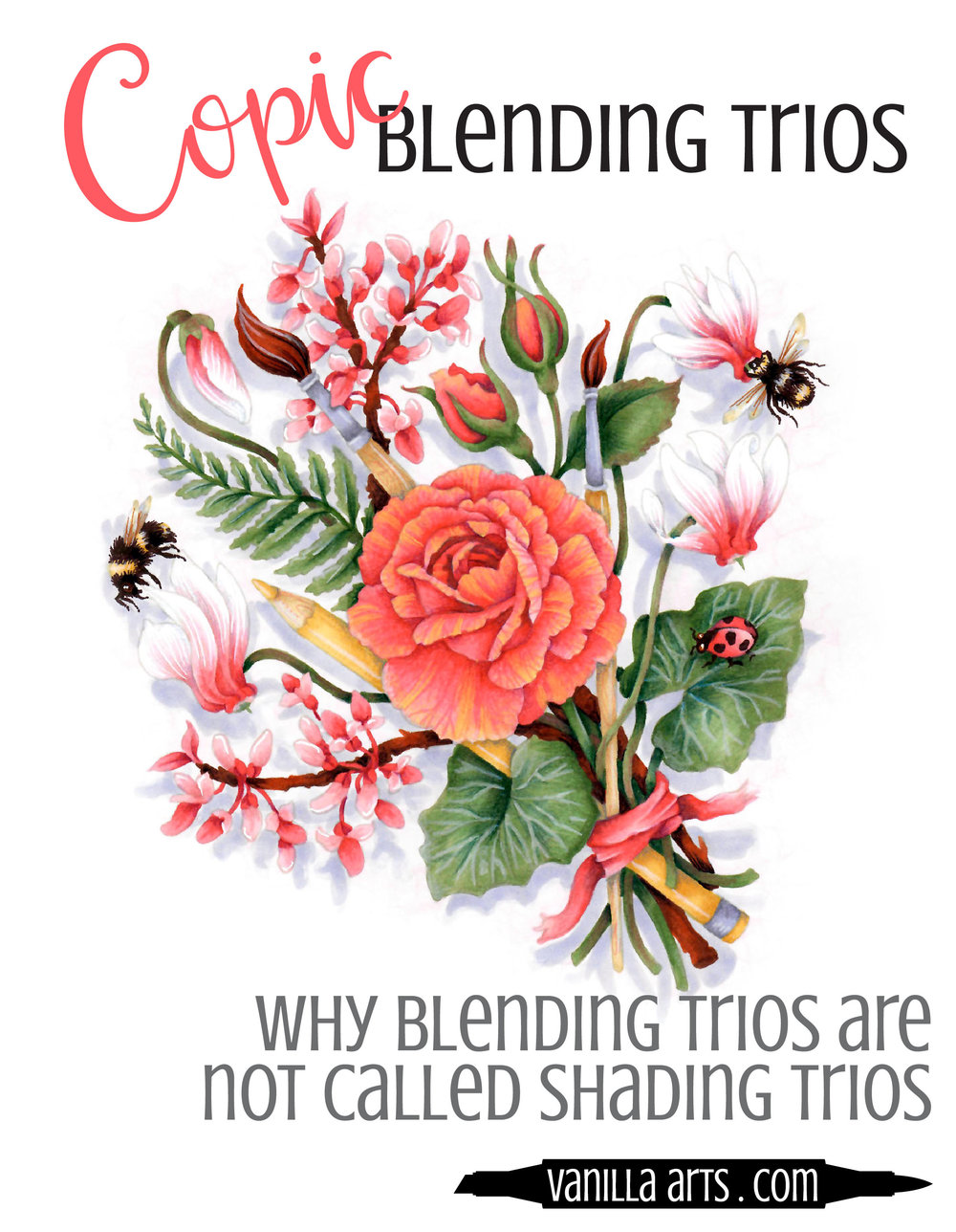 Copic Blending Trios do not really add realism to your coloring. Learn the method artists have been using for centuries- Color Sculpting. It's easier than you think and no math required! | VanillaArts.com