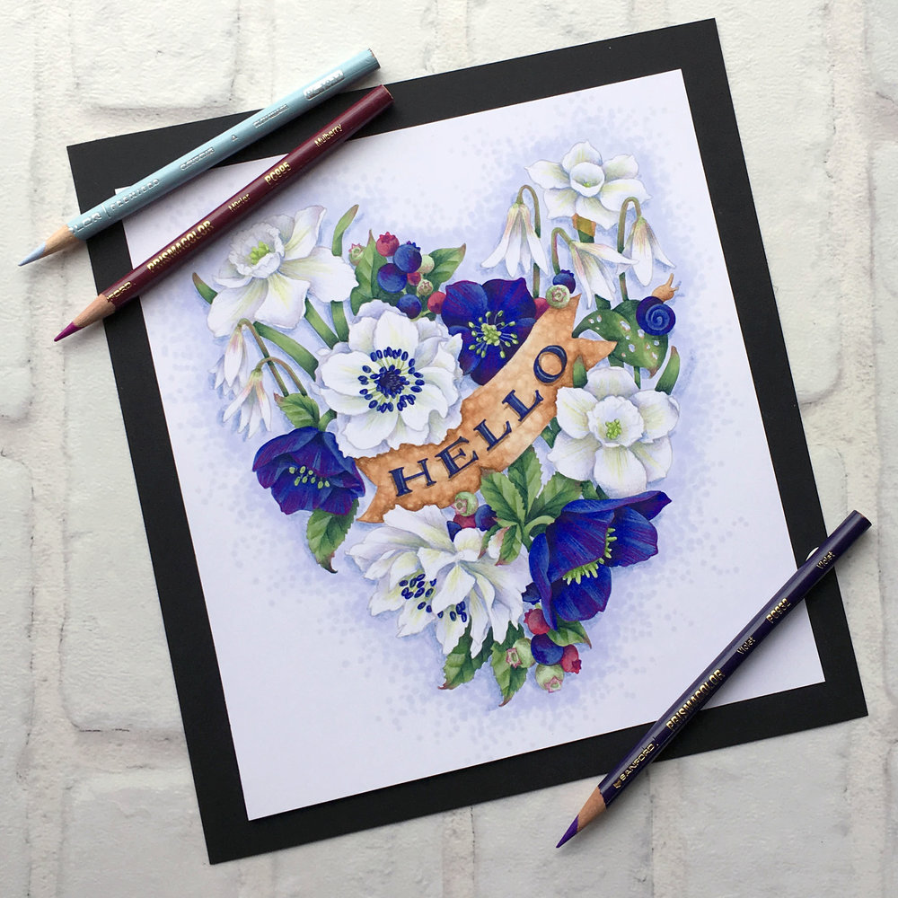 Vanilla Livestream lessons for Copic colorers. Ultramarine Blue is a bold and vibrant color which can easily overwhelm your projects. Learn to balance gem tones to make mature and sophisticated color palettes. | VanillaArts.com