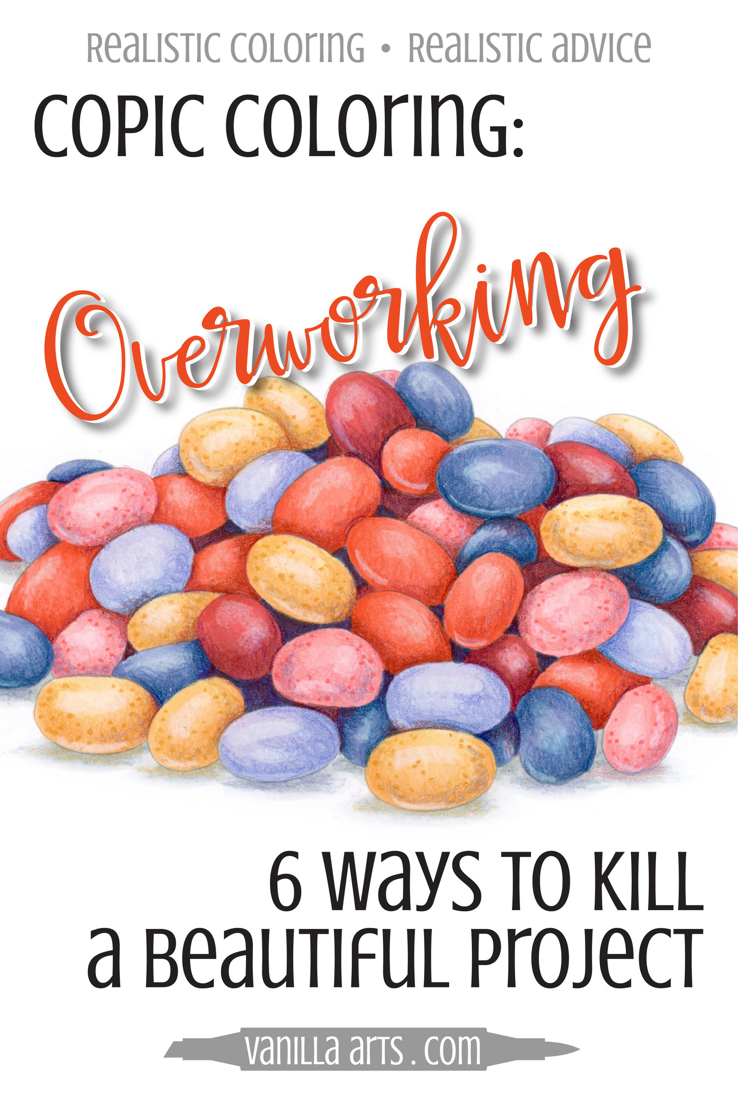 Copic Coloring: 6 Ways to Kill a Beautiful Project- the ...