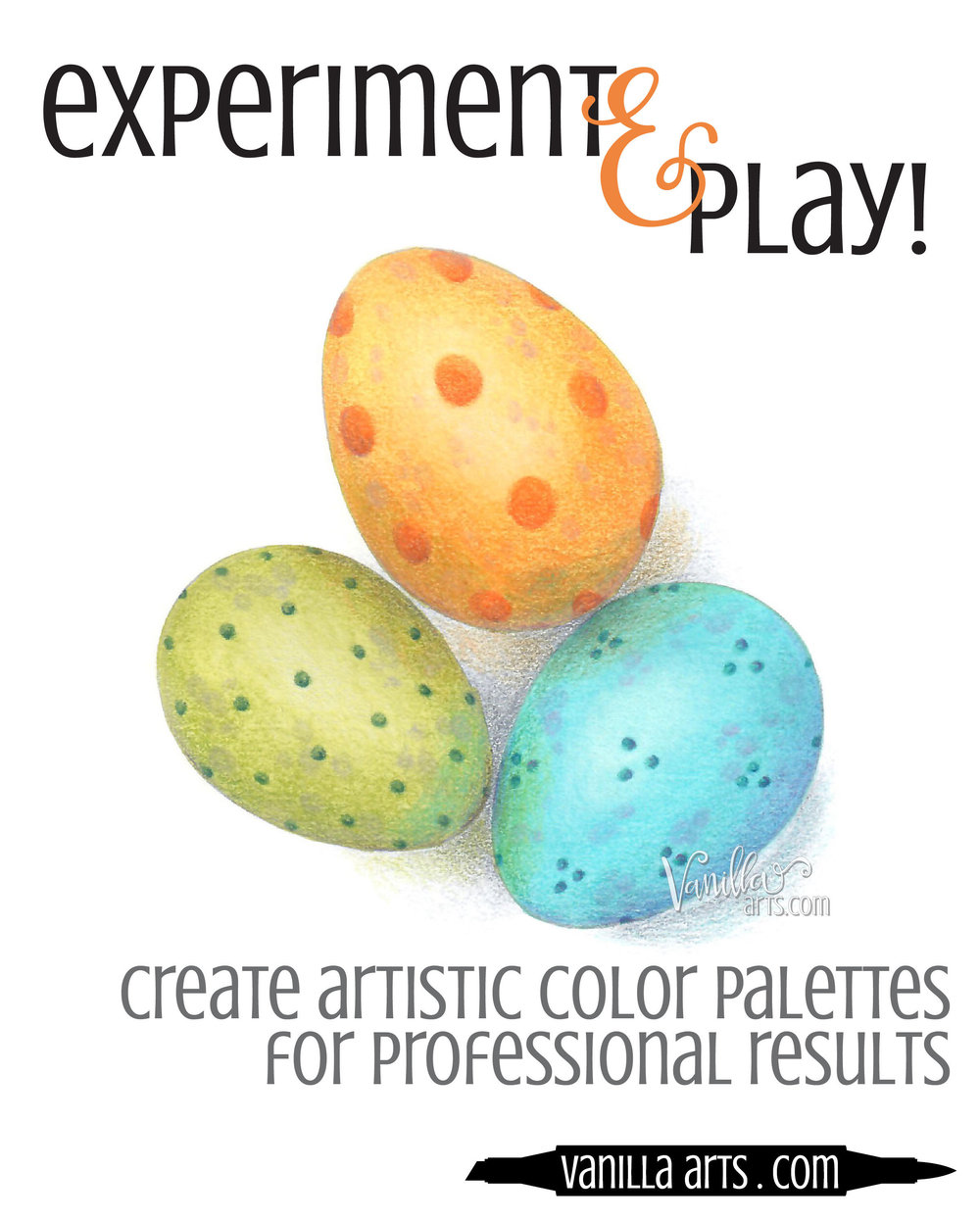 Learn to create artistic color palettes for sophisticated and professional looking coloring projects. Improve the look of your Copic, colored pencil, or watercolor projects. | VanillaArts.com
