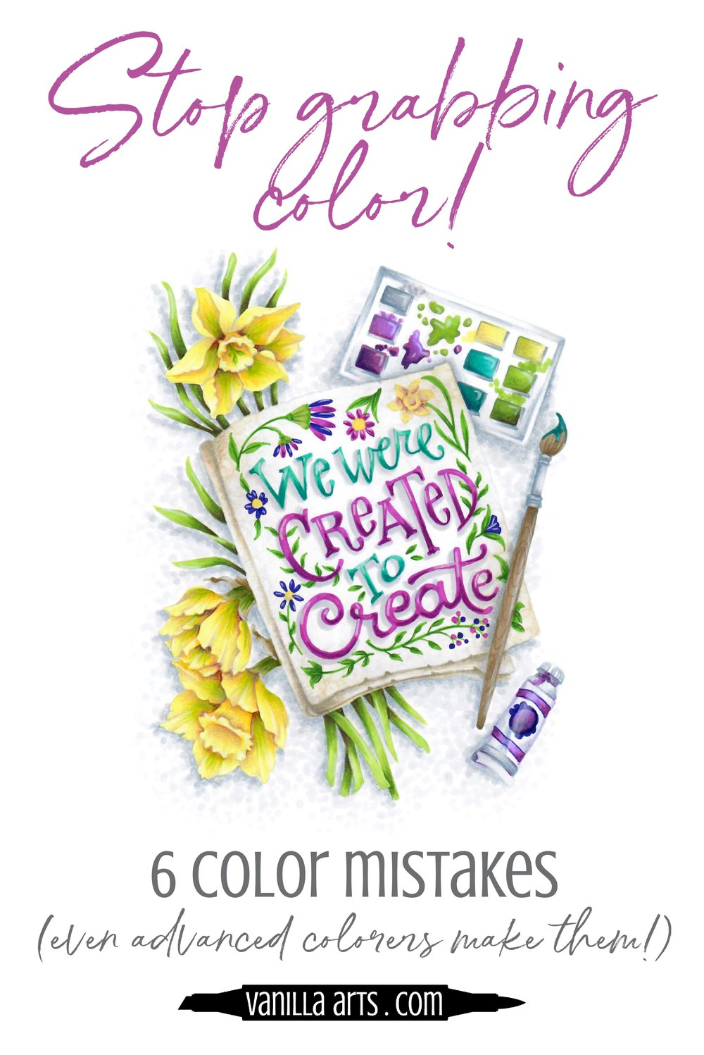 Do you choose Copic Markers as you need them? Why the lack of planning kills your adult coloring projects. No amount of talent and coloring skill can overcome bad color choices! | VanillaArts.com | #copic #coloredpencil #coloringtips #adultcoloring