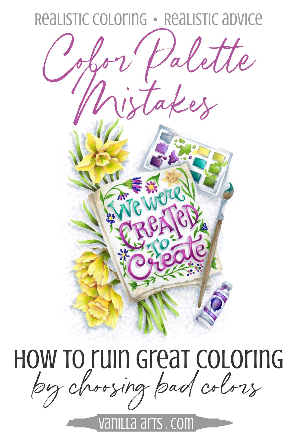 Great coloring projects have little to do with talent. What you admire isn't someone's Copic Marker or colored pencil skills, you're looking at the color!| VanillaArts.com | #copic #coloredpencil #coloringtips #adultcoloring
