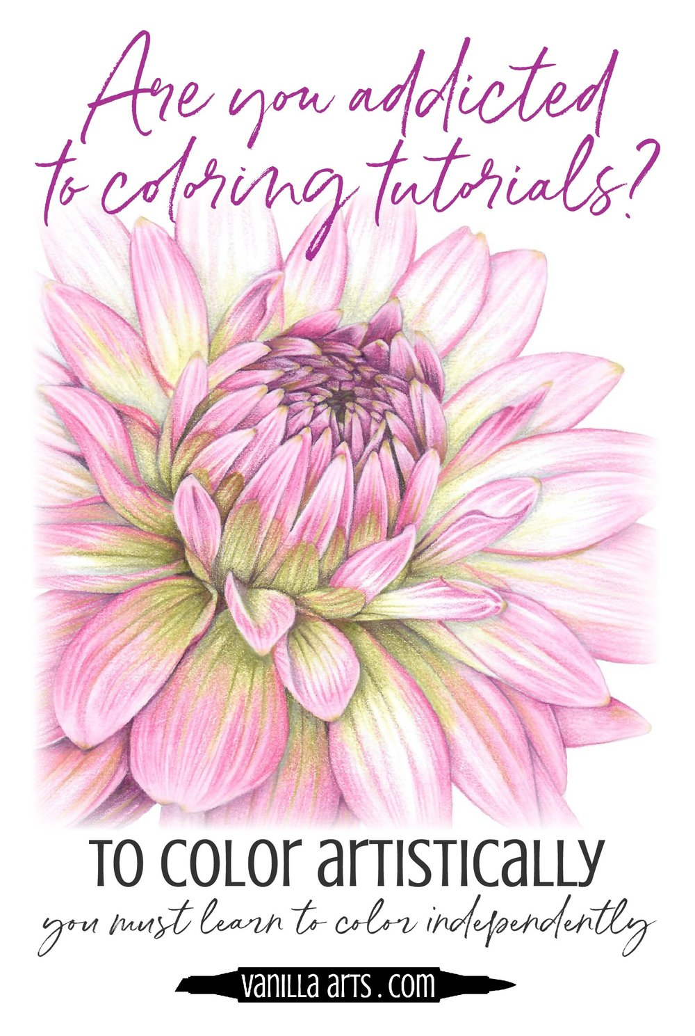 """Do you research """"how to color a ___"""" before every Copic marker project? Until you learn to color independently without tutorials, you'll never get the artistry you want.