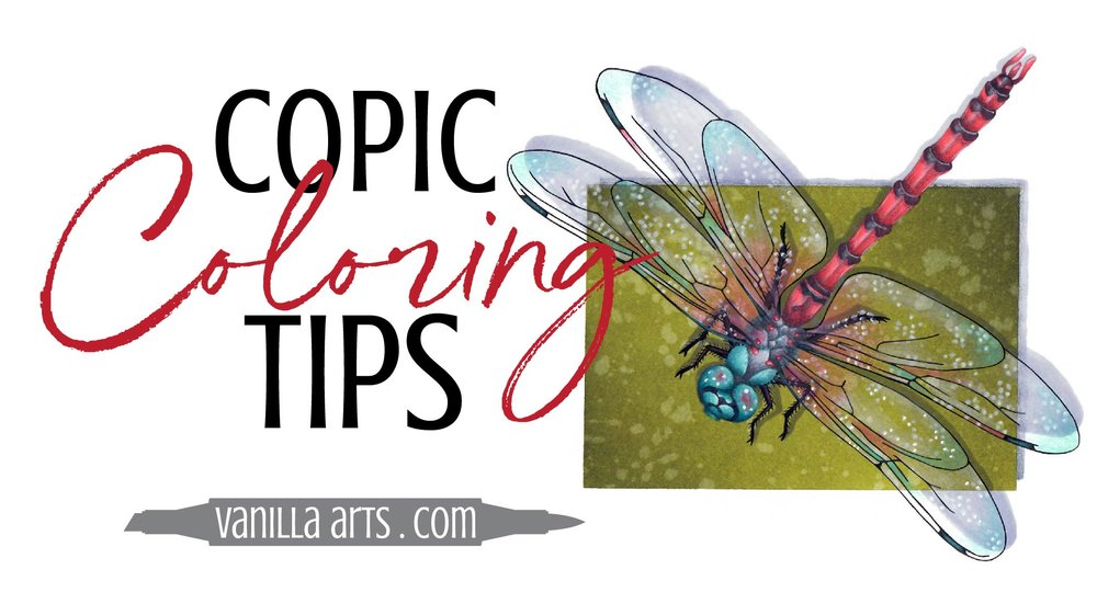 Copic Marker coloring and tips by Amy Shulke of Vanilla Arts Company. Advance your coloring and change the way you think about Copic Markers, colored pencils. You can color with realism! | VanillaArts.com |#copicmarker #coloredpencil #coloring #howtocolor #realisticcoloring