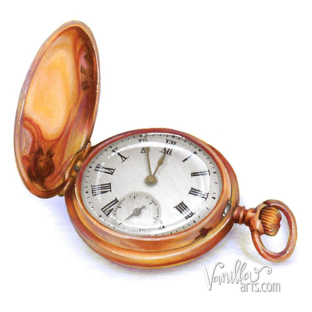 """""""Pocket Watch"""" by VanillaArts.com"""