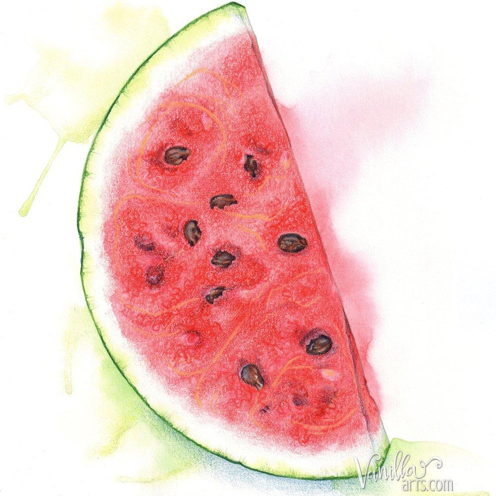 """""""Watermelon Slice"""" by VanillaArts.com"""