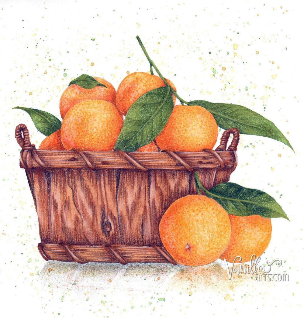 """""""Tangerine Basket"""" by VanillaArts.com"""