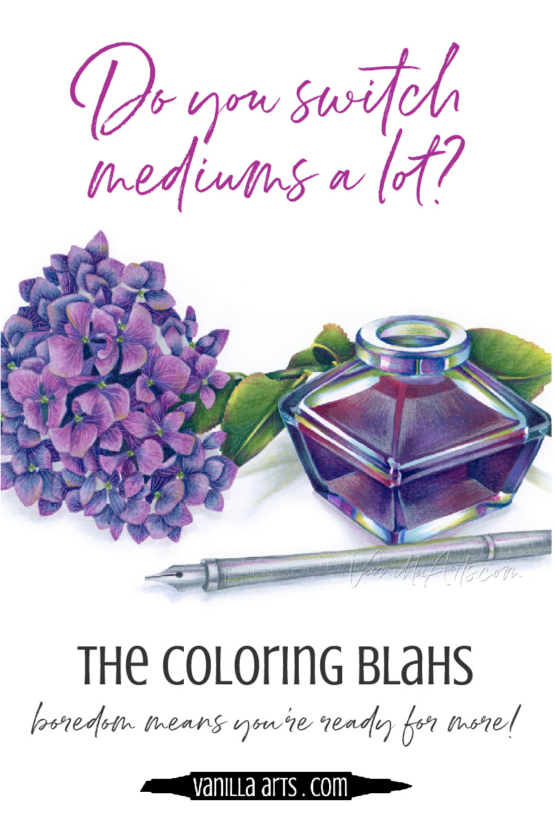 If you've been coloring with Copic Markers or colored pencils for a while and classes just aren't inspiring you anymore, perhaps it's time to think about art classes. Eight signs that you're ready to get artistic! | VanillaArts.com | #copicmarker #coloredpencil #realisticcoloring #howtocolor