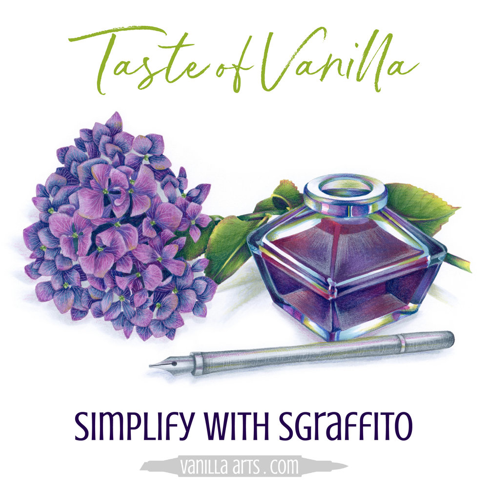 Taste of Vanilla - FREE mini-lessons, changing your mindset about Copic Markers and colored pencils to help you add artistry, maturity, and realism to your coloring projects. | VanillaArts.com | #copicmarker #coloredpencil #coloring #howtocolor #realisticcoloring