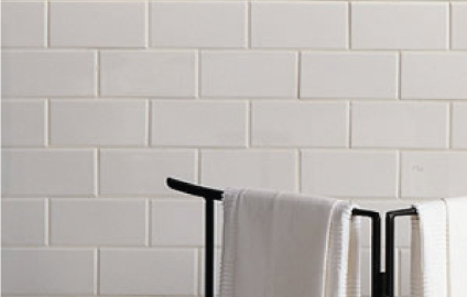 TL-04-C TILE DALTILE/RITTENHOUSE SQUARE BEVEL BATHROOM WALLS