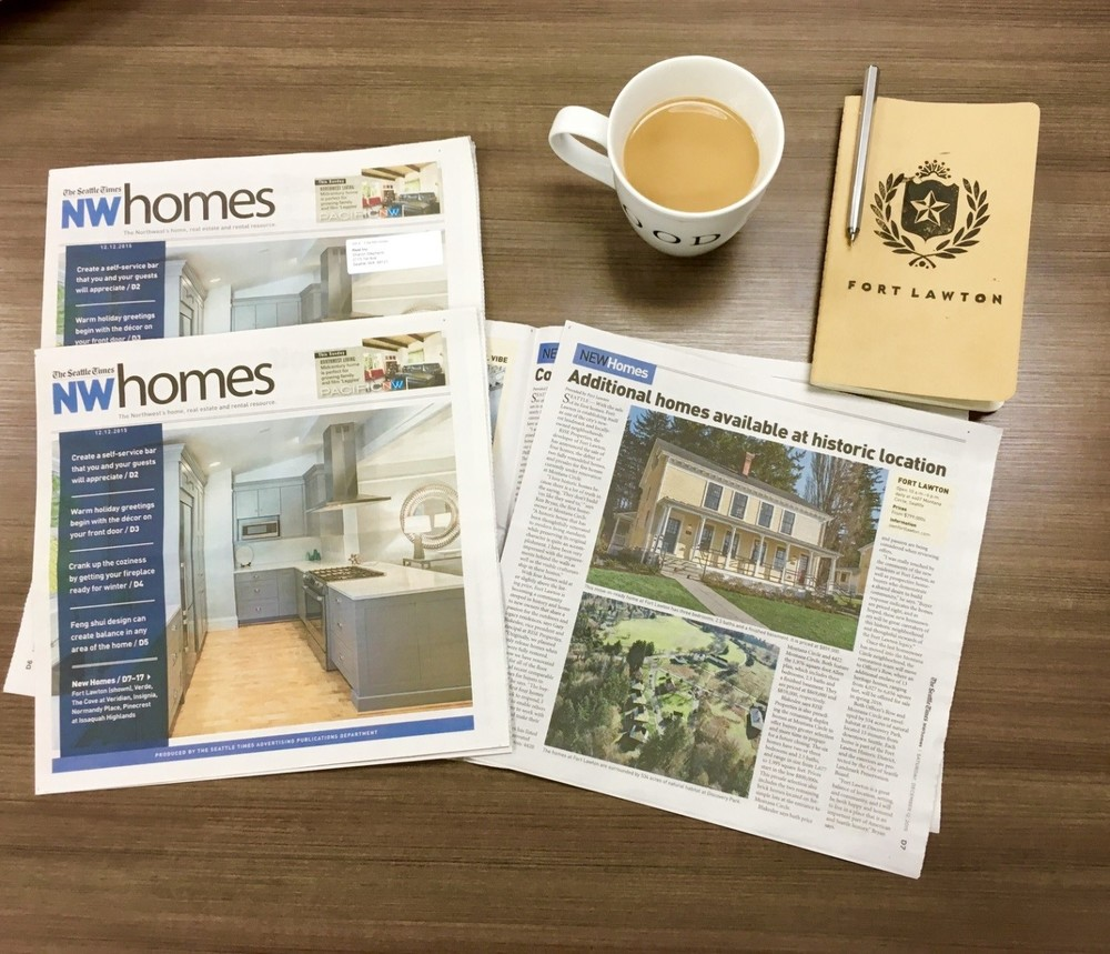 Above: The historic Homes at Fort Lawton graced the cover of NW Homes, a publication of The Seattle Times.