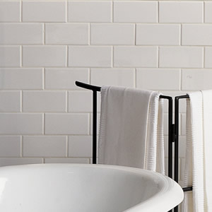 Classic ceramic subway tile in bathrooms