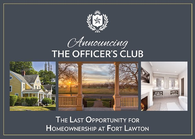With all thirteen homes sold at Montana Circle, the collection of residences at Officer's Row represents the final opportunity to own a home at Fort Lawton! http://bit.ly/25O2yDi  #FortLawton #OfficersRow #OfficersClub