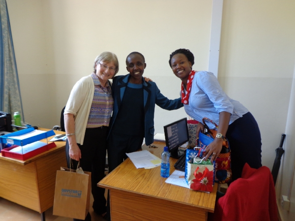 Mary enjoyed traveling to Kenya in 2015 and meeting Daystar University staff and students.
