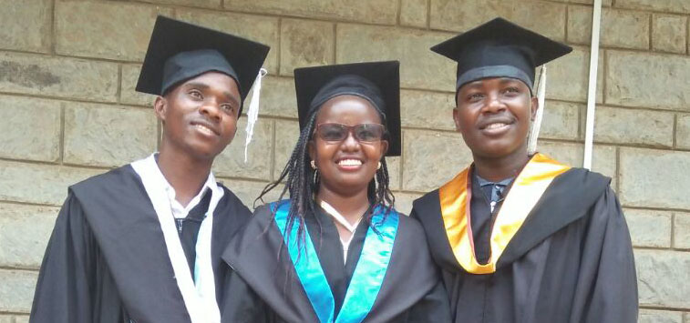Timothy, Celestine, and Joseph, they graduated from Daystar University in July.