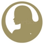 Gold female Sihouette Icon jpeg.jpg