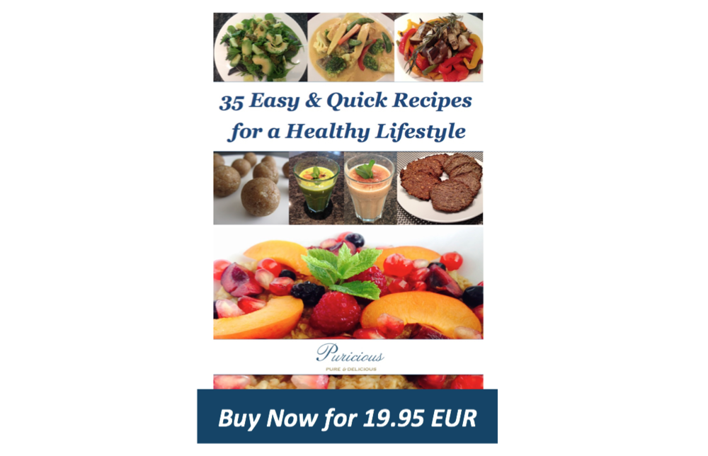 Puricious first cookbook full with healthy & easy recipes