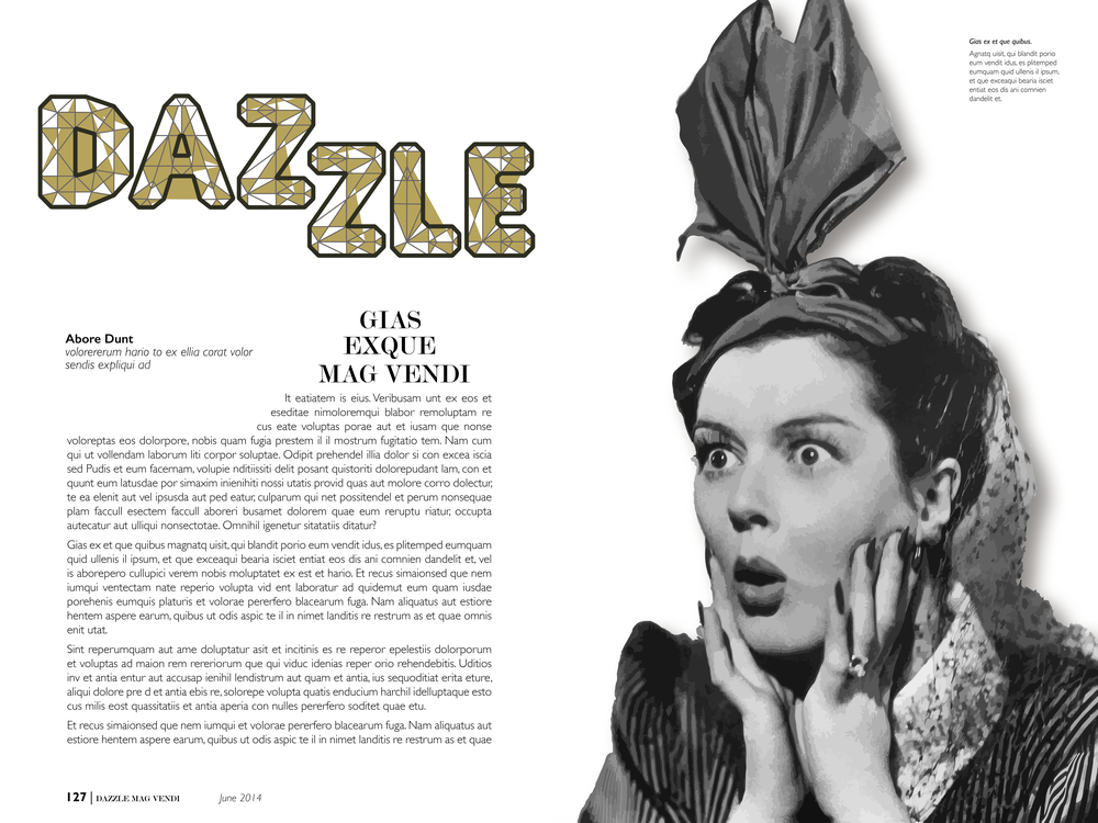 DAZZLE EDITORIAL LAYOUT