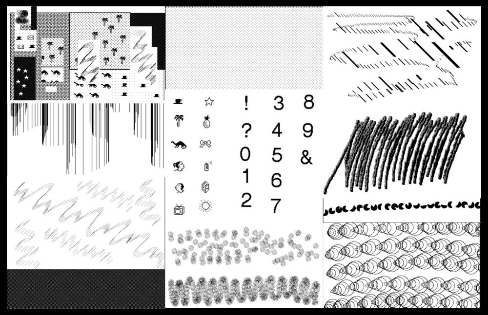 Texture studies created on KidPix.