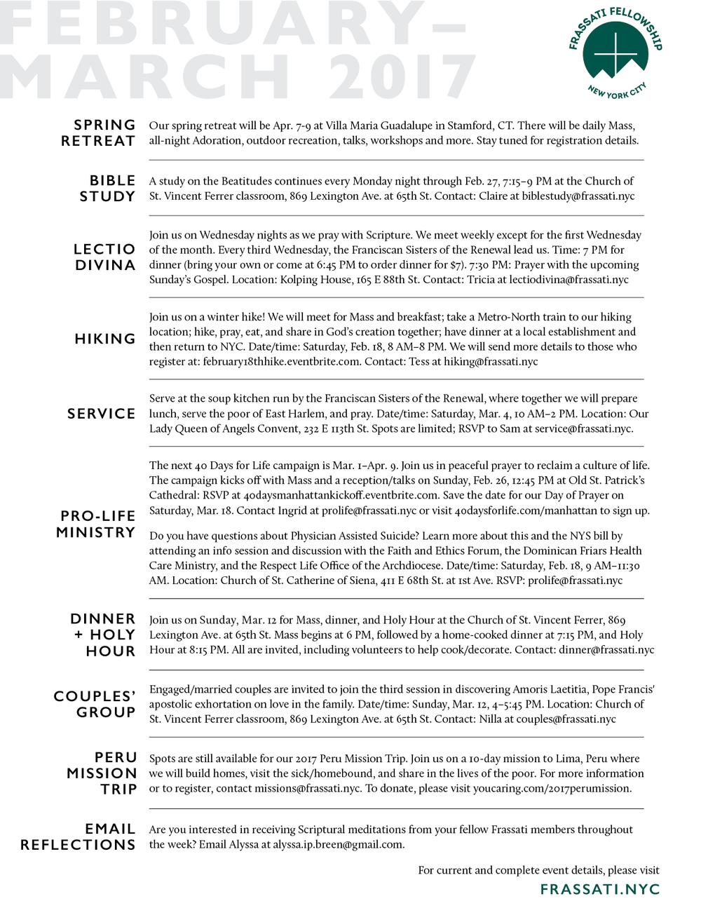 Frassati Fellowship of NYC · Identity — Nika DyBuncio