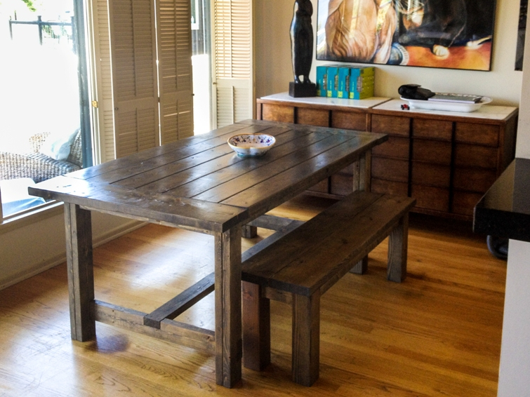 Farmhouse Tables Affordable Furniture Romantic Rectangle Brown Textured Wood