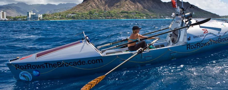 """Roz is the first woman to row solo across the Atlantic, Pacific and Indian Oceans. Thanks to her book """"Stop Drifting, Start Rowing""""I became aware of the Great Pacific Garbage Patchwhich has caused me to rethink my use of products and recycling."""