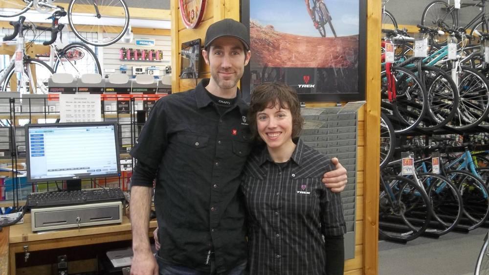 Travis and Josie rockin' it at   Decorah Bicycles  !!