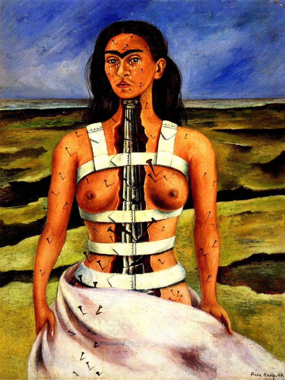 """""""La Columna Rota"""" (Broken Column) Frida Kahlo 1944"""