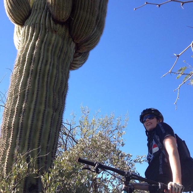 SSAZ 'DFL' 2015 - After 11 hours of epic single track in Cave Creek Arizona, Casey finished ladies 'Dead Fucking Last' in 2015's SSAZ. This was her first single speed event.