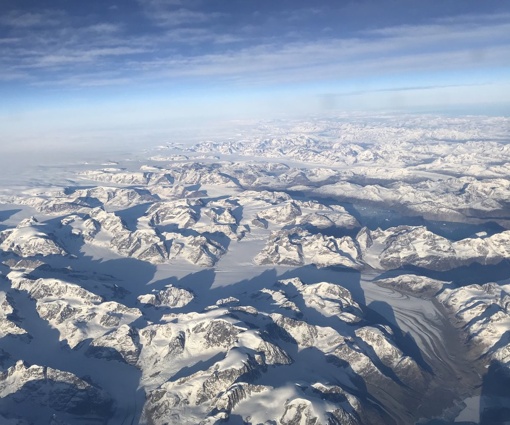 Greenland on my flight back to the US. What a sight!