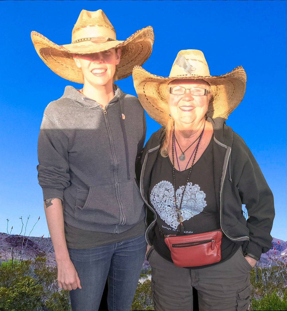 On the road with Alice and Texas sized hats!