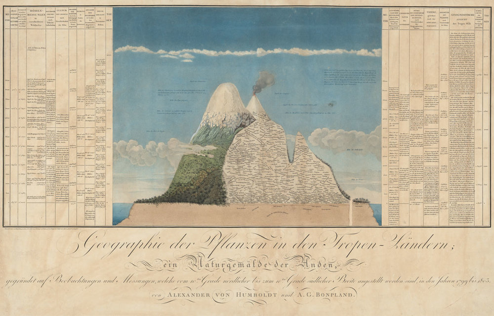 Naturgemälde – Alexander von Humboldt's first depiction of nature as an interconnected whole