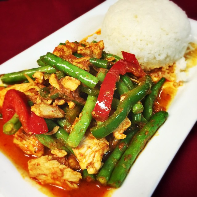 Need a little@bit of savory to get through the day before the weekend? Try our special of the day: Spicy Green Bean with Chicken! #TGIF #waiwai #waiwaitp #kc #ks #kansas #kansascity #thaifood #thaiforlunch #food #foodkc #foodporn