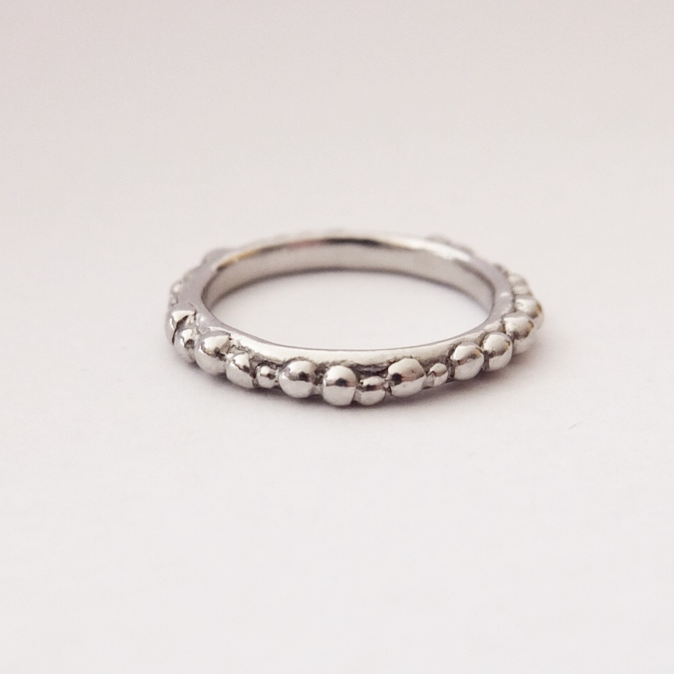 Platinum Granulated Ring