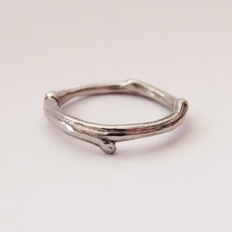Platinum Twig Wedding Band
